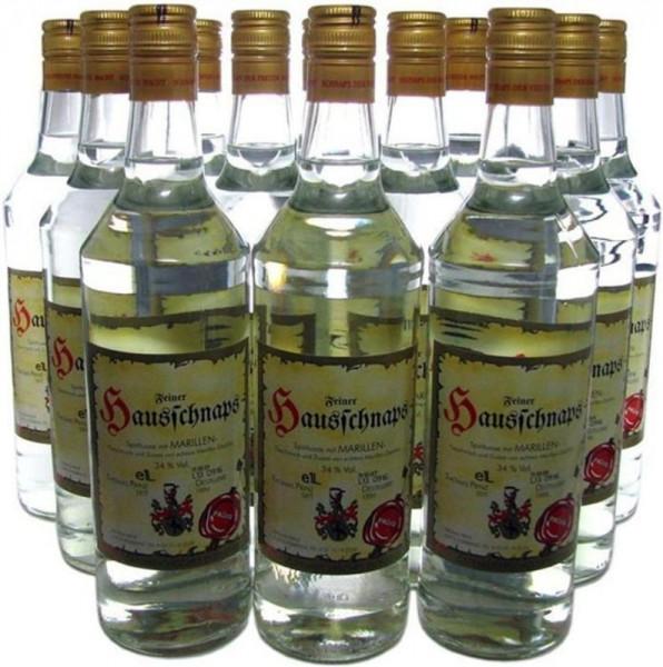 90 Flaschen Prinz Hausschnaps Marille 1,0l Schnaps aus Österreich -9.7% Rabatt