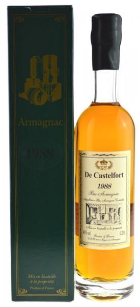 De Castelfort Armagnac Jahrgang 1988 - abgefüllt 2014 - 25 Jahre im Fass gelagert