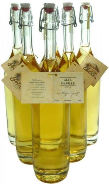 6 Flaschen Prinz Alte Marille 0,5l im Holzfass gereift aus Österreich