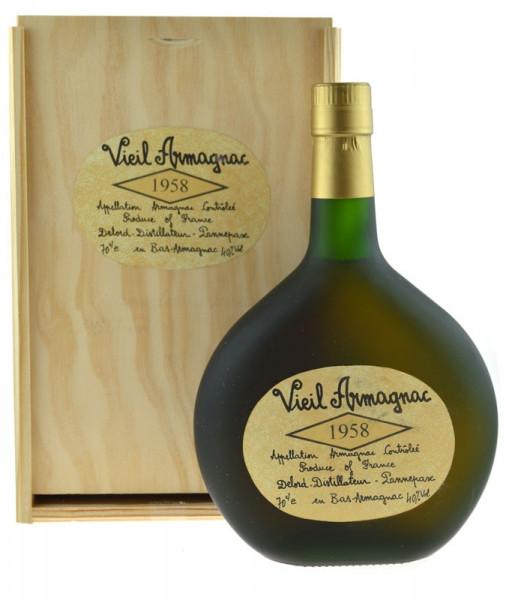 Vieil Armagnac Delord Jahrgang 1958 Bas-Armagnac