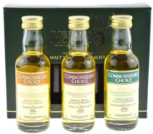 G&M 3er Set: Caol Ila 2001,Tomatin 1996, Inchgower 2000 - 3x0,05l mit Geschenkpackung - Single Malt