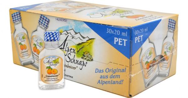 Alpenschnaps Steinbeisser Marille PET 30x0,02l