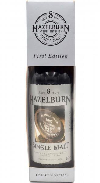 """Hazelburn 8 Jahre - First Edition-Etikett """"Fass"""""""