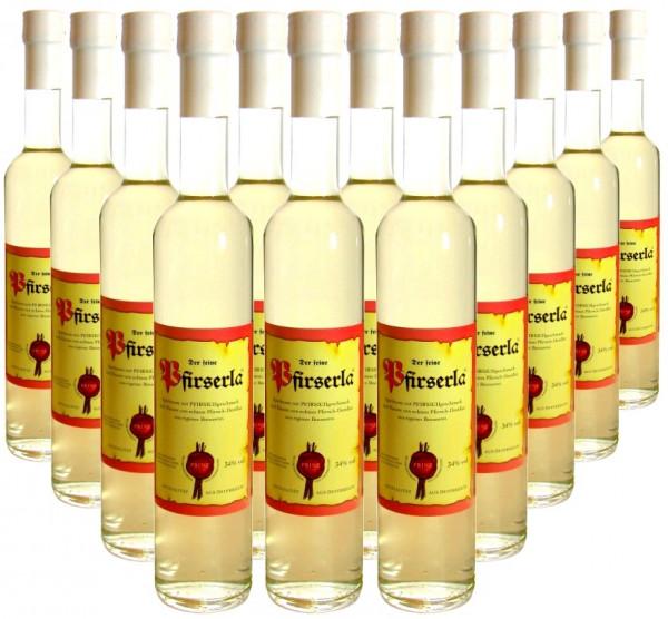 18 Flaschen Prinz Pfirserla 0,5l aus Österreich - 3,5% Rabatt