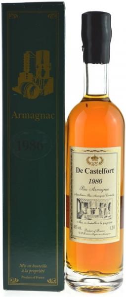 De Castelfort Armagnac Jahrgang 1986 - abgefüllt 2014/2016 - 27/29 Jahre im Fass gelagert