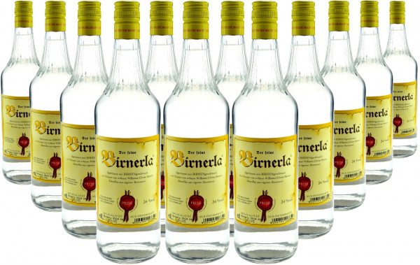 12 Flaschen Prinz Birnerla ( Birnenschnaps ) 1,0l aus Österreich