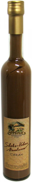 Prinz Schoko-Kokos-Haselnuss-Likör (Festtagslikör) in hoher Flasche