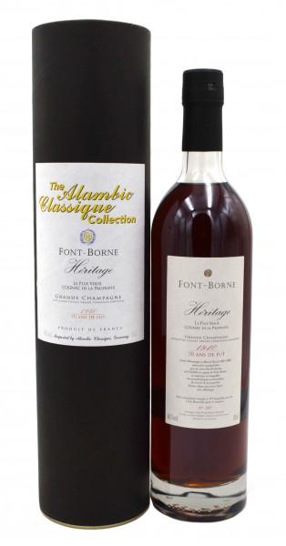 Font-Borne Heritage Cognac Jahrgang 1940 Alambic Classique 0,7l
