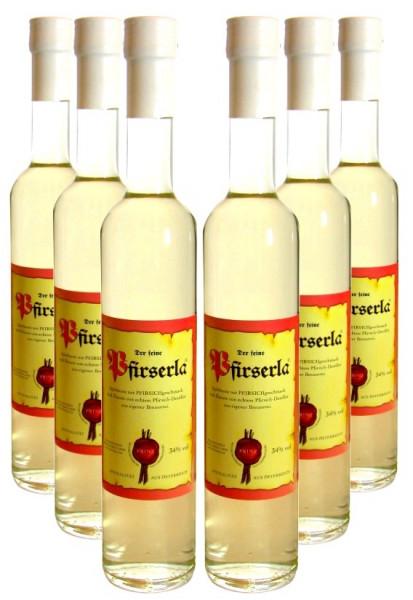 6 Flaschen Prinz Pfirserla (Pfirsichschnaps) 0,5l aus Hörbranz in Österreich