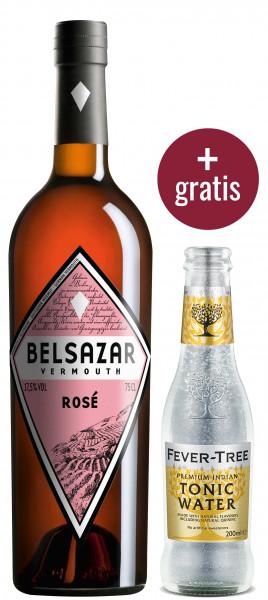 Belsazar Bundle (Belsazar Rosé 0,75l + Fever Tree Indian Tonic Water 0,2l gratis)