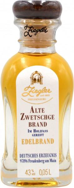 Ziegler Alte Zwetschge Edelbrand 0,05l Miniatur