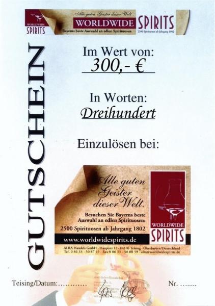 Gutschein über Euro 300,00