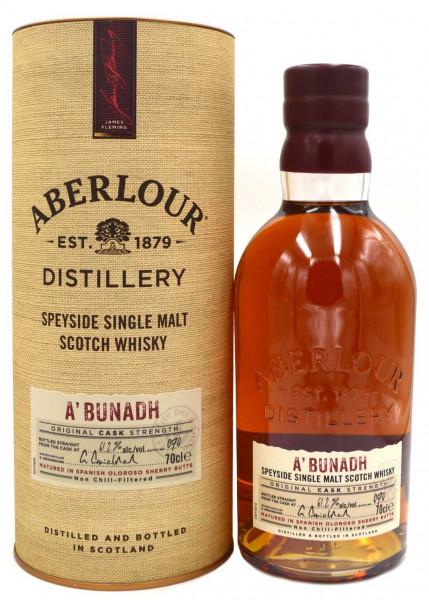 Rarität: Aberlour a'Bunadh Whisky Batch N°60 mit 60.3% vol. - Highland Single Malt Scotch Whisky ink