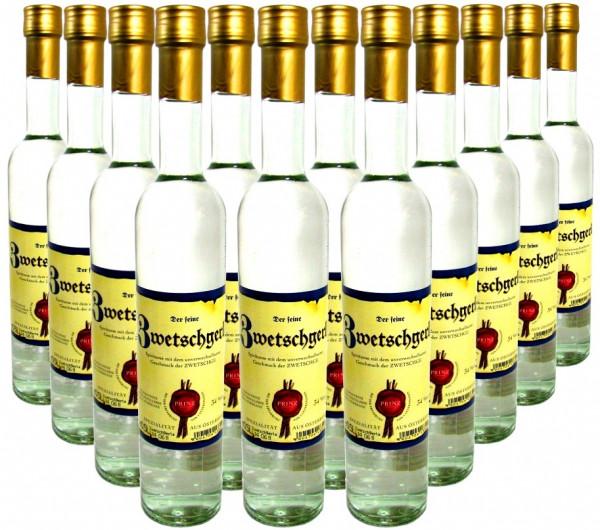 36 Flaschen Prinz Zwetschgerla ( Zwetschgenschnaps ) 0,5l aus Österreich - 4,5% Rabatt