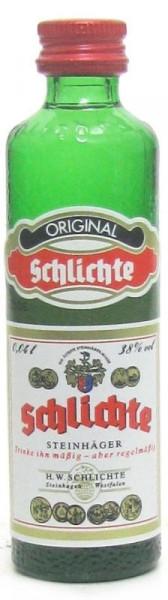 Original Schlichte Steinhäger 0,04l Miniatur