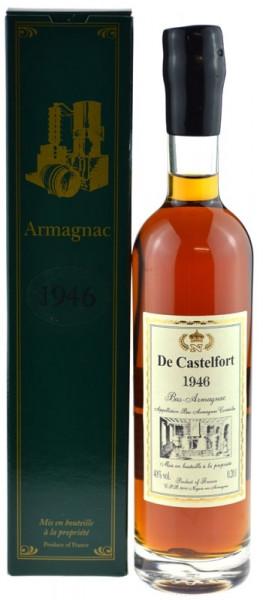 De Castelfort Armagnac Jahrgang 1946 - abgefüllt 2015 - 69 Jahre im Fass gelagert