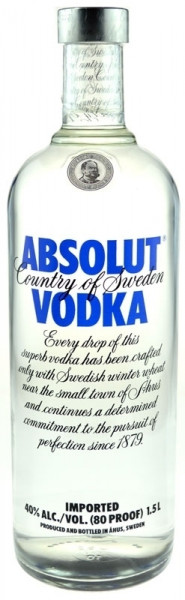 Absolut Vodka Großflasche