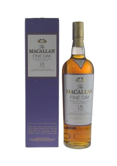 Macallan Whisky 18 Jahre Fine Oak 0,7l mit Geschenkkarton (Importeur Fassbind)