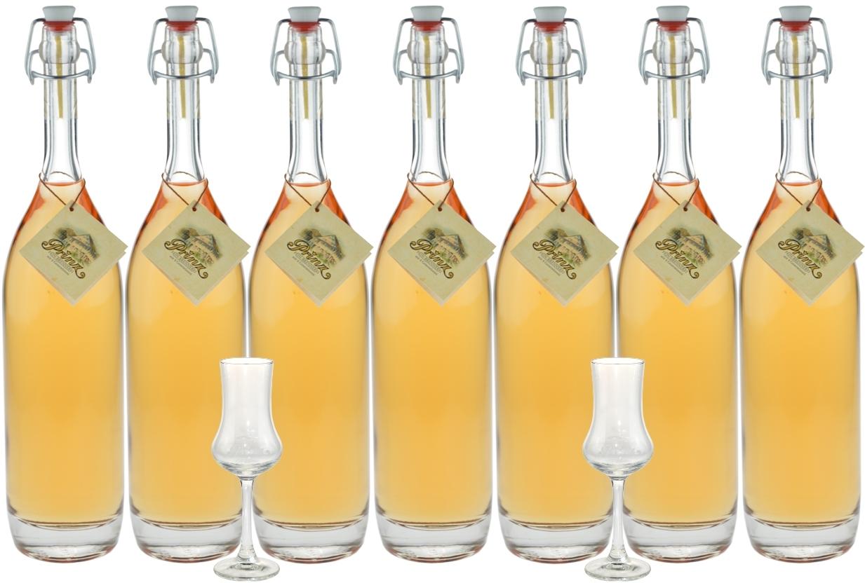 probierpaket 7 flaschen prinz alte sorten 0 5l marille apfel williamsbirne waldhimbeere