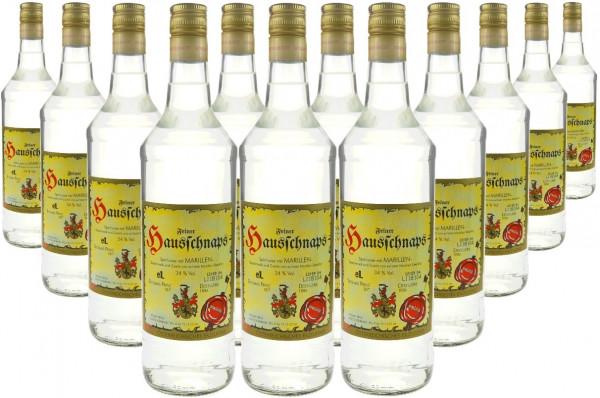 18 Flaschen Prinz Hausschnaps Marille 1,0l - milder Schnaps aus Hörbranz in Österreich - 8,7% Rabatt