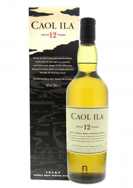 Caol Ila Whisky 12 Jahre 0,7l 43% incl. Geschenkkarton