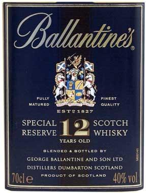 Ballantines 12 Jahre 0,7l - schottischer Blended Whisky 40% vol.