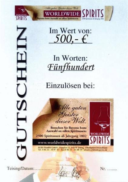 Gutschein über Euro 500,00