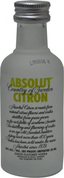 Absolut Citron (Zitrone) Miniatur