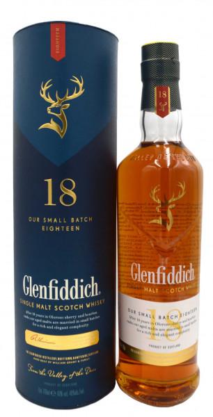 Glenfiddich Whisky 18 Jahre Small Batch Reserve 0,7l inkl. Geschenkpackung - Single Malt Scotch Whis