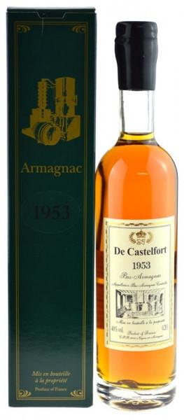 De Castelfort Armagnac Jahrgang 1953 - abgefüllt 2015 - 62 Jahre im Fass gelagert