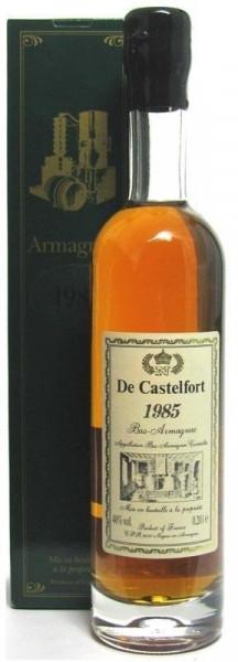 Armagnac De Castelfort Jahrgang 1985 - abgefüllt 2014/2016 - 28/30 Jahre im Fass gelagert