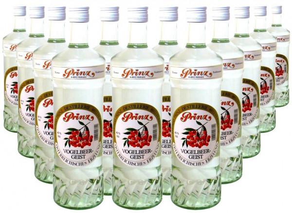 12 Flaschen Prinz Vogelbeer-Geist 1,0l aus Österreich