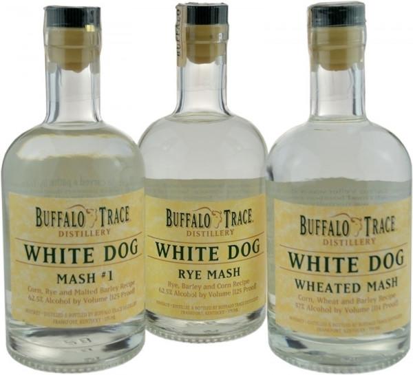 Buffalo Trace Collection White Dog 3 x 0,375l (Rye Mash, Mash#1, Wheated Mash)