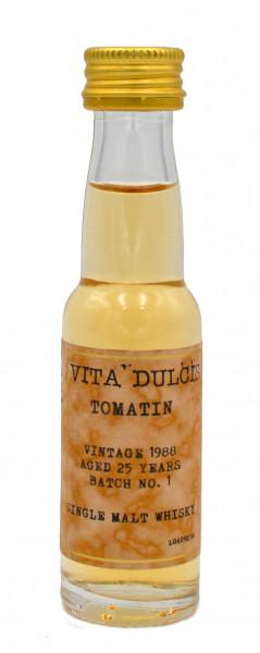 Tomatin 25 Jahre Vintage 1988 Batch No. 1 Sample