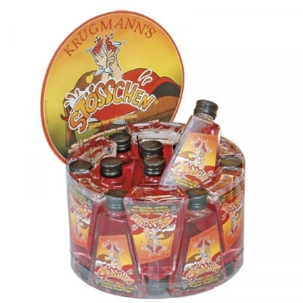 Stösschen Likör mit Rhabarber und Wodka Miniaturpaket 20 x 0,02l