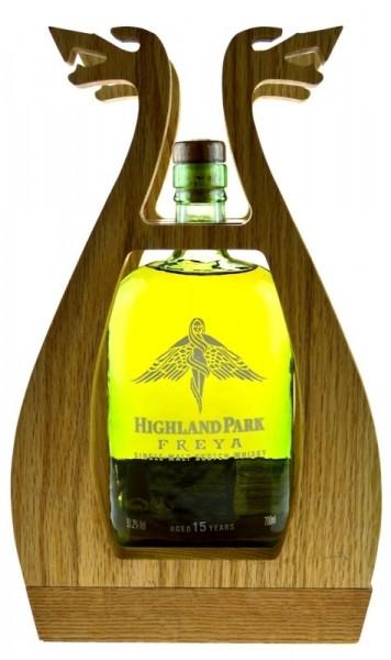 Highland Park Freya 15 Jahre incl. Holzgestell 0,7l mit Geschenkpackung - Single Malt Scotch Whisky