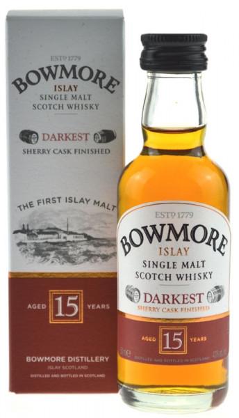 Bowmore Darkest 15 Jahre Miniatur