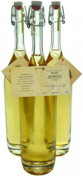 3 Flaschen Prinz Alte Marille 0,5l im Holzfass gereift aus Österreich