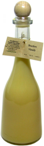 Prinz Bourbon vanilla liqueur in rustika bottle