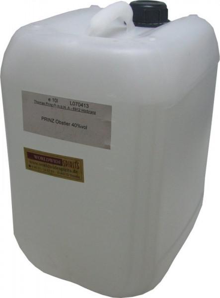 Prinz Obstler 40% - 10 Liter Kanister Spirituose aus Österreich