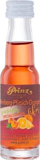 Prinz Weinberg-Pfirsich Orangen Likör 0,02l Miniatur