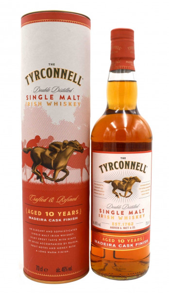 The Tyrconnell 10 J. Madeira Casks 0,7l mit Geschenkbox - Whiskey aus Irland - Single Malt Irish Whi