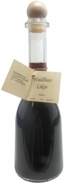 Prinz Waldbeerlikör 0,5l - in Rustikaflasche aus Österreich
