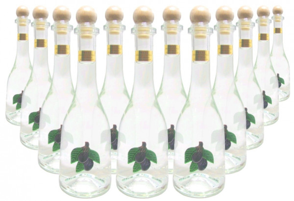 18 Flaschen Prinz Pflümli ( Pflaumenschnaps ) 0,5l - Spirituose aus Österreich in Rustikaflasche mit