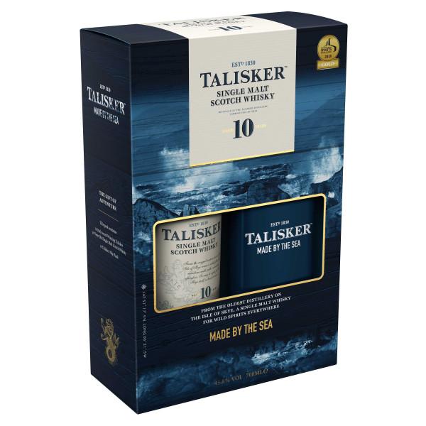 Talisker 10 Jahre 0,7l + Hip Flask in Geschenkpackung
