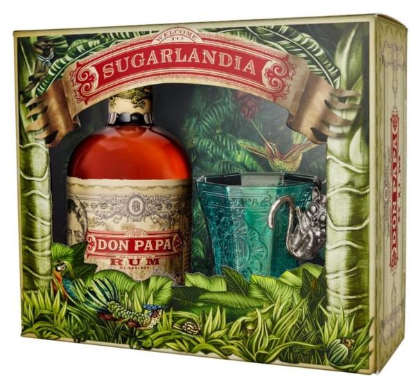 Don Papa Geschenkset - Rum 0,7l + Glas - Rum aus Negros