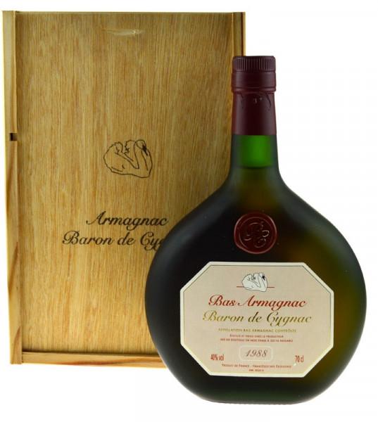 Armagnac Baron de Cygnac 0,7l Jahrgang 1988
