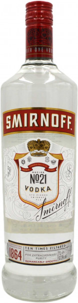 Smirnoff Vodka Red Label No.21