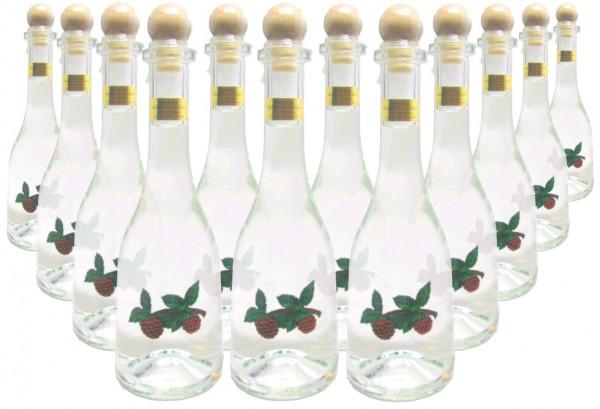 12 Flaschen Prinz Himbeergeist 0,5l - Spirituose aus Österreich in Rustikaflasche mit Himbeeren-Fruc