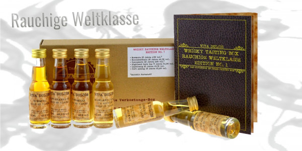Whisky Tasting Box rauchige Weltklasse 6x0,02l